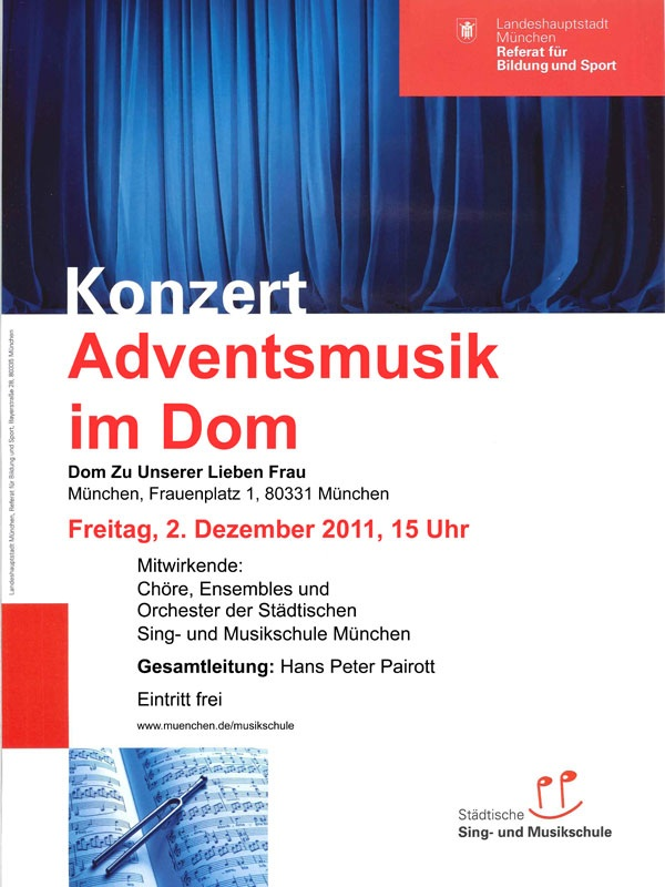 "Plakat ""Adventsmusik im Dom"""